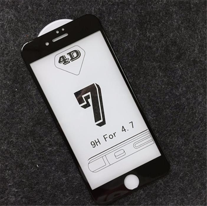 Стъкло 4D стъклен протектор IPhone 6, 6S, 6 Plus, 7, 7 Plus, 8, 8+, X