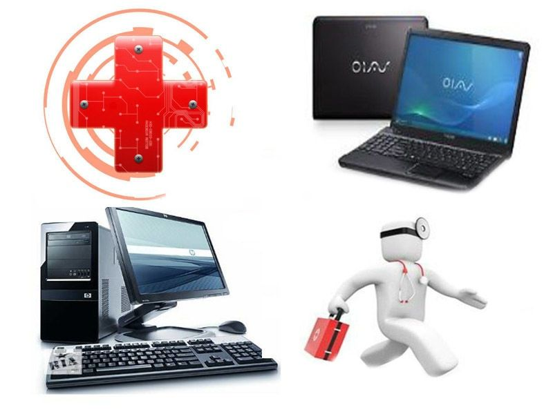Ремонт компьютеров и ноутбуков, видеонаблюдение.