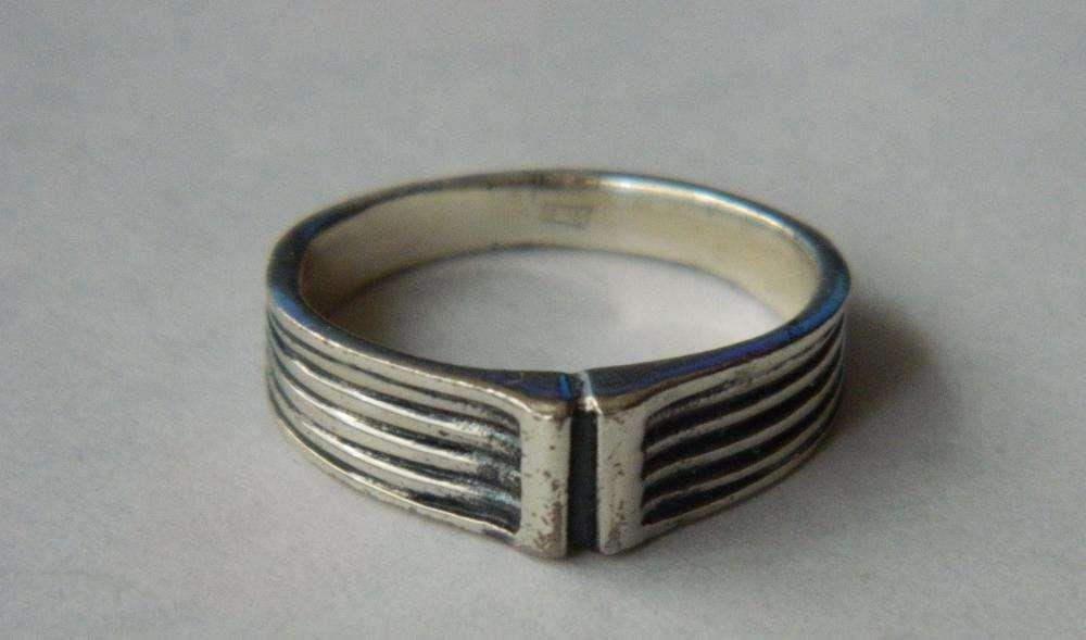 D42,inel argint 925, nou/marcat, unisex