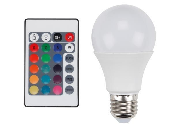 Bec LED multicolor cu telecomanda
