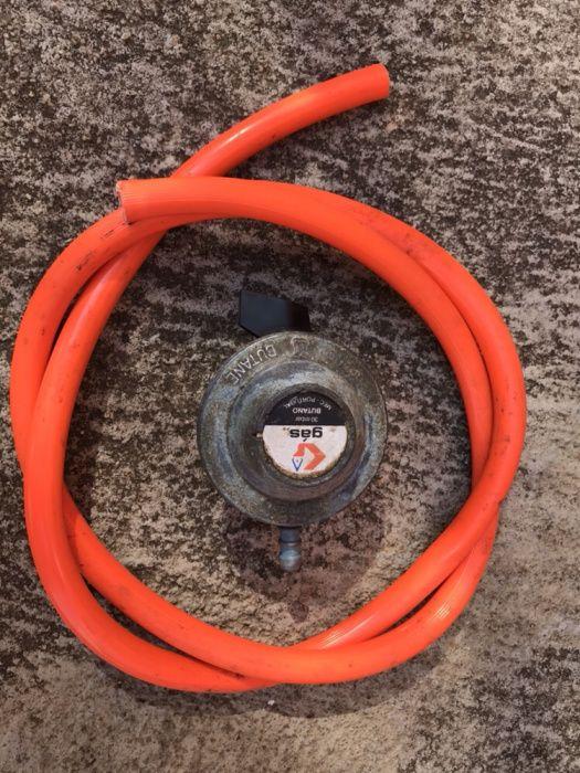 Redutor + tubo de gás