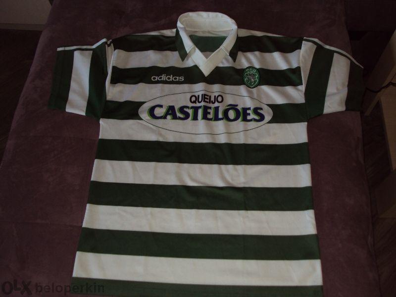 Колекционерска!! Тениска на Спортинг Лисабон с автографи на целия отбо