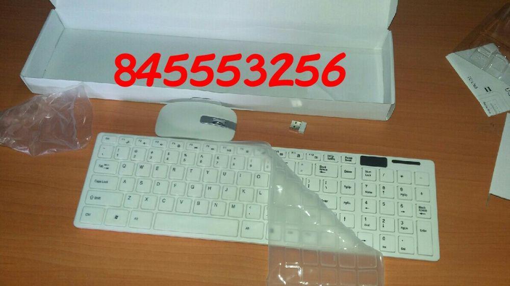 Kit de teclado e mouse wireless e capa de protecção contra poeira Bairro - imagem 2