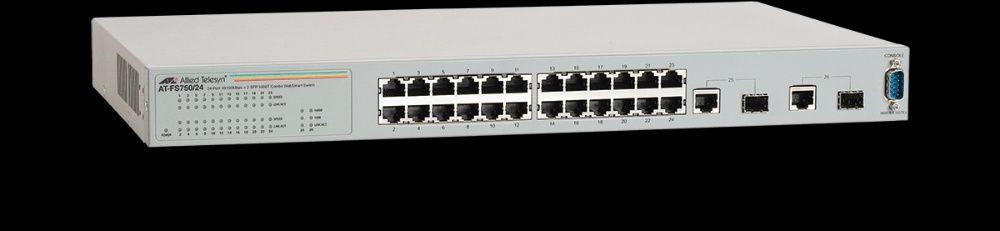 Vand switch SH Allied Telesis 24 + 2 x 1000 Gigabit management