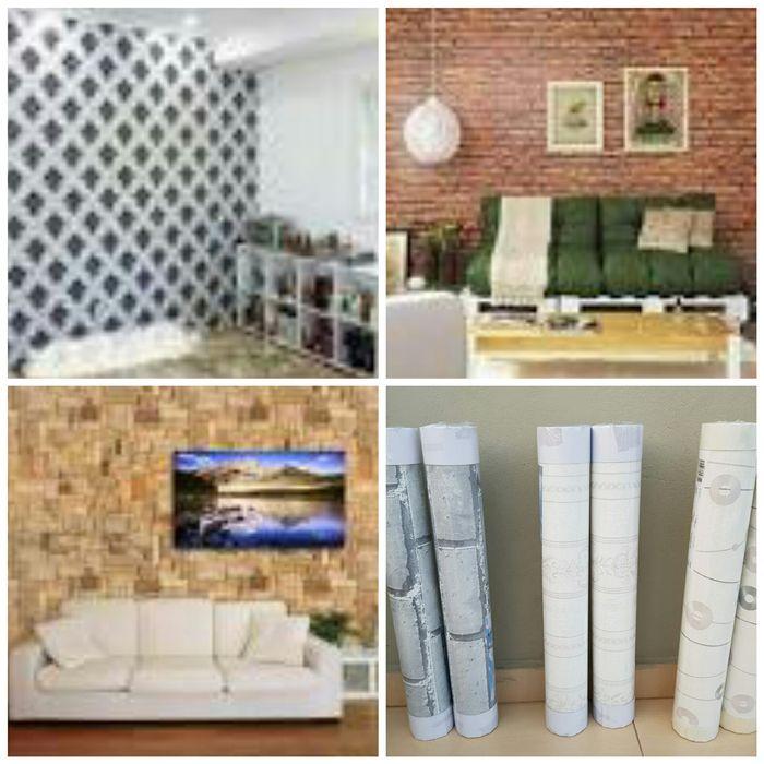 Parede exclusiva, montagem e venda de papel de parede p sala e quarto