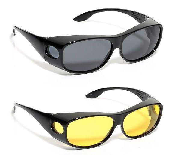 Оригинални очила за нощно/дневно виждане, против блясък, UV 400 - нов