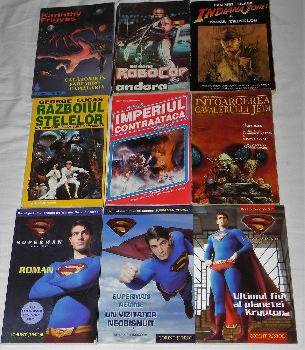 carti Terminator, Razboiul stelelor, Robocop, Superman, Spinrad