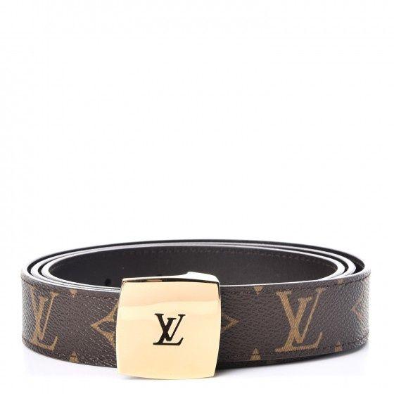 Louis Vuitton curea reversibila catarama cu monograma decupata LV 85 /
