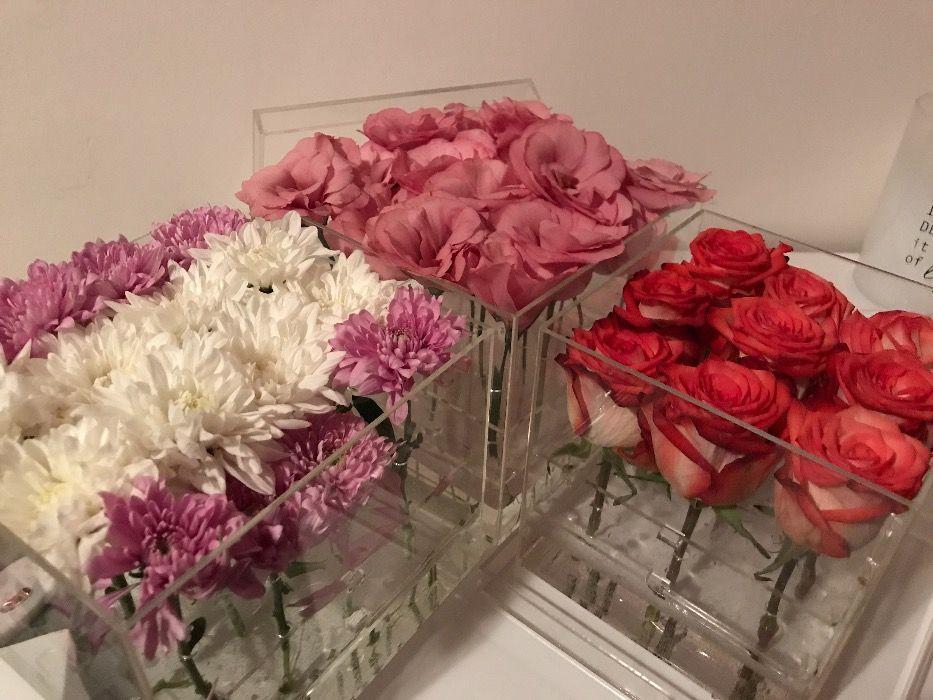 Кутия за цветя прозрачна - оригинален подарък