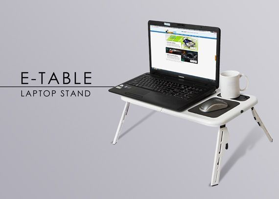 Портативна маса за лаптоп с охладител E-table