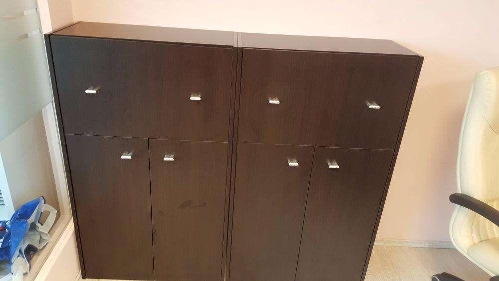Vand modul 3 dulapuri birou maro inchis
