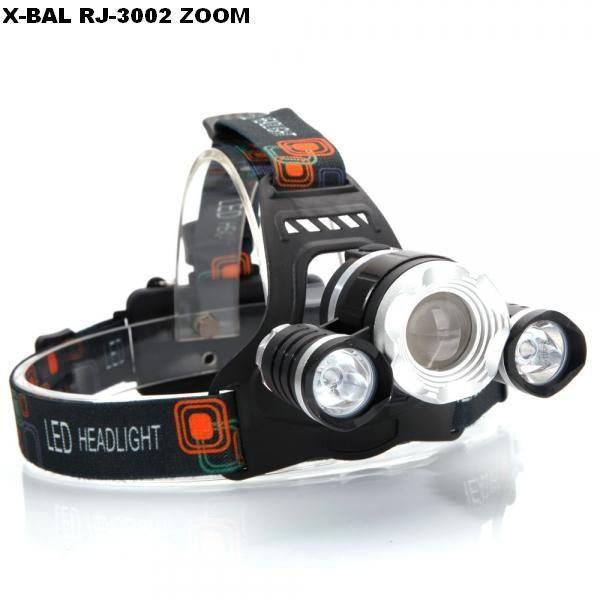 Lanterna Frontala gama BORUIT RJ 3000 cu ZOOM si 3 Leduri CREE T6 NOU