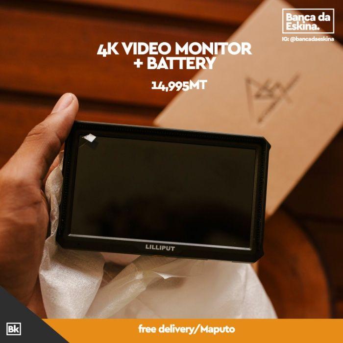 4k video monitor + battery