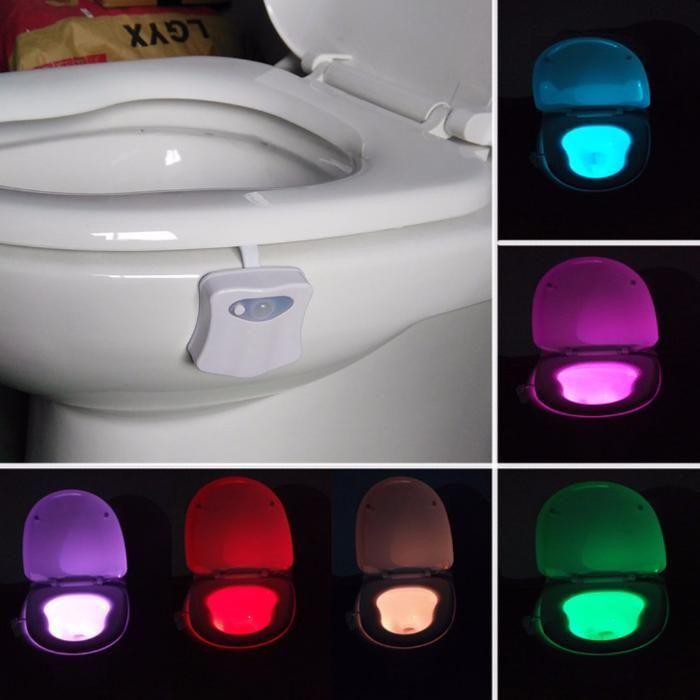 Lampa de veghe LED lumina pentru vasul de toaleta WC cu SENZOR miscare