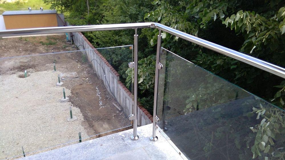 Confectii metalice INOX la tema: balustrade cu sticla/lemn, cruci, etc