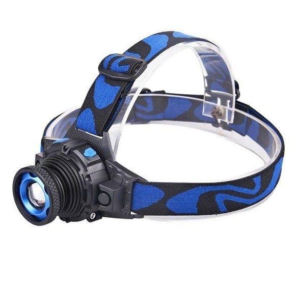 Lanterna Frontala cu LED Acumulator si Zoom lumina puternica