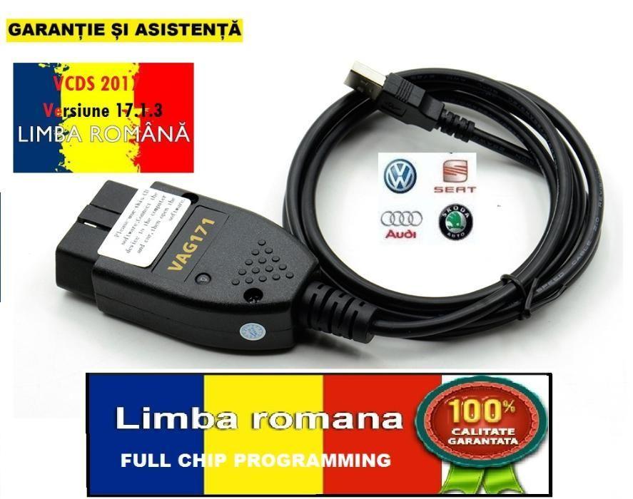 VCDS Vag 17.8.4 Limba Romana,En, Hu Cablu interfata diagnoza auto