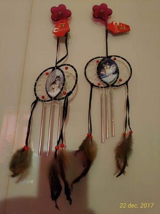 DREAM CATCHER talisman de vise clopoței vânt 3 tuburi și pene CANADA