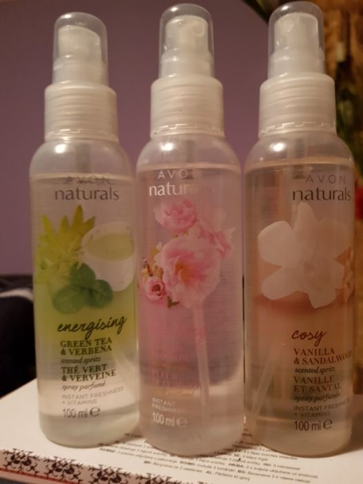 Spray de corp naturals