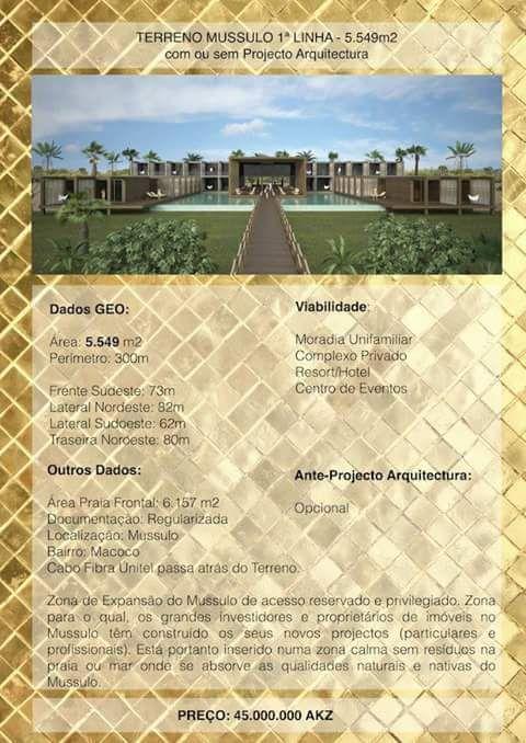 Vende-se um terreno na praia do Mussulo