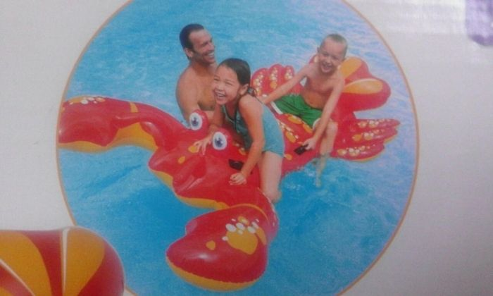 Super saltea gonflabila distractiva Mare, model Homar urias, 2pers,nou