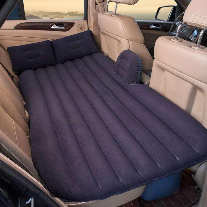 Saltea gonflabila pentru masina, pat auto + cadou 2 perne gonflabil