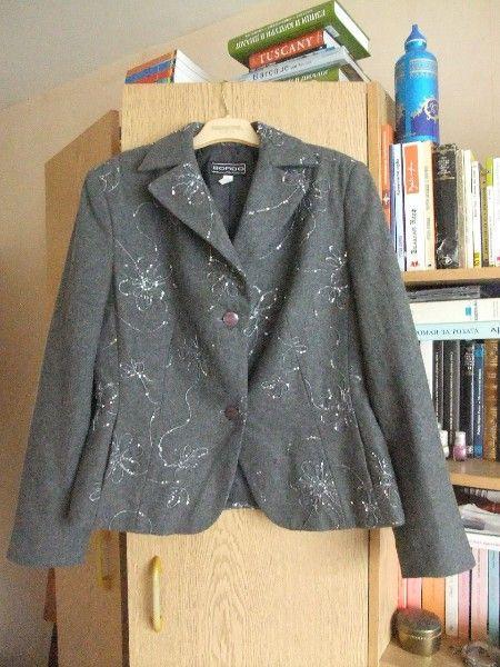 """Официален сив костюм от вълна на """"Бордо"""""""