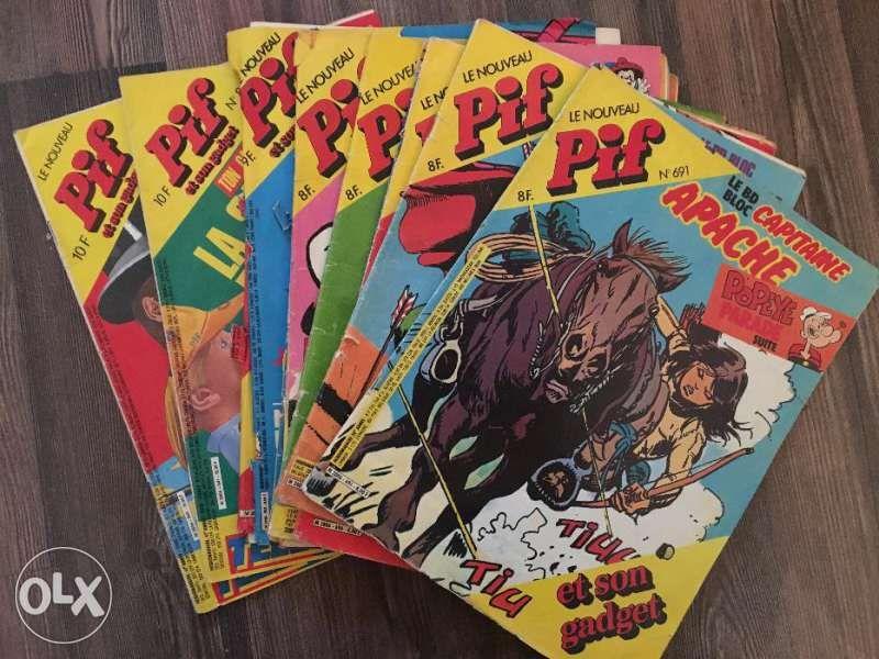 Списание Pif - оригинални на френски език