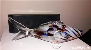 Bibelou de colectie, peste mare din sticla murano veche Braila - imagine 3