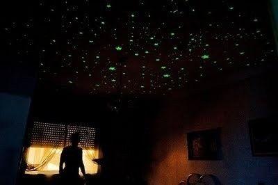 Adesivos - Estrelas fluorescentes decorativas. (brilham no escuro)