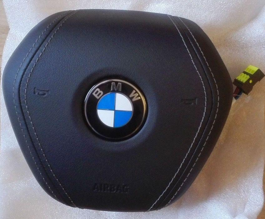 AIRBAG Volan BMW Seria 7 G11 G12 2015+ PIELE NOU - Negru si BROWN