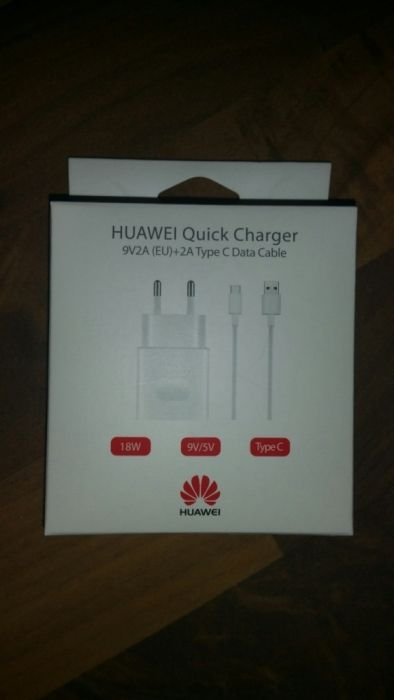 Incarcator original QuickCharger+cablu type-c Huawei P9,P10,Mate 9 etc