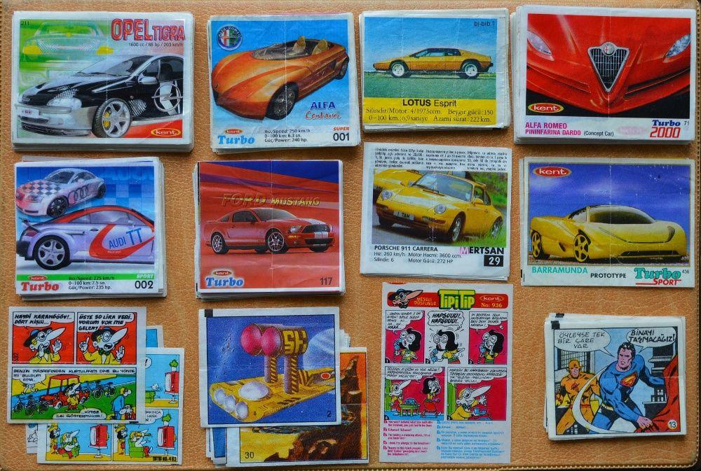 Картинки от дъвки с комикси, животни, актьори и коли