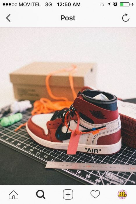 Air jordan 1 x offwhite ceo virgil abloh