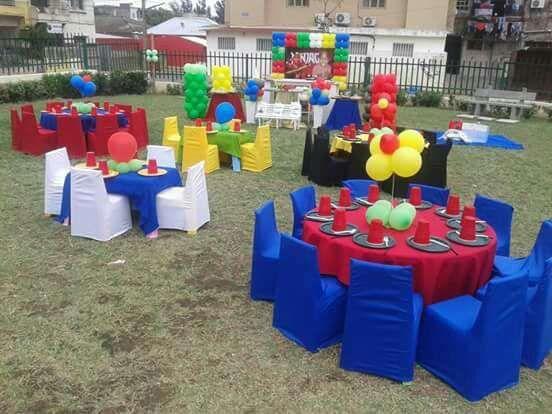 Somos especializados em organizar festas infateis,e aluguer do materia