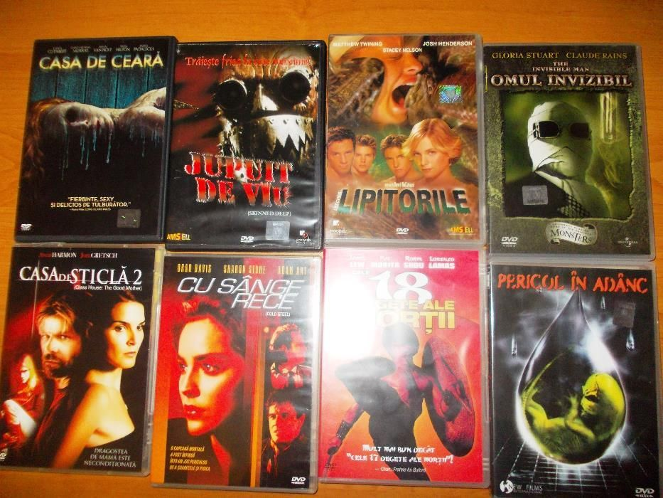 Invisibile man /28 weeks later/Inside Men/Death tunel /Glass House 1-2