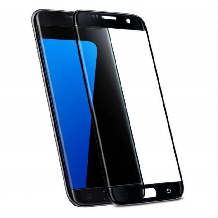 Folie de sticla 3D neagra compatibila cu Samsung Galaxy S7 Edge