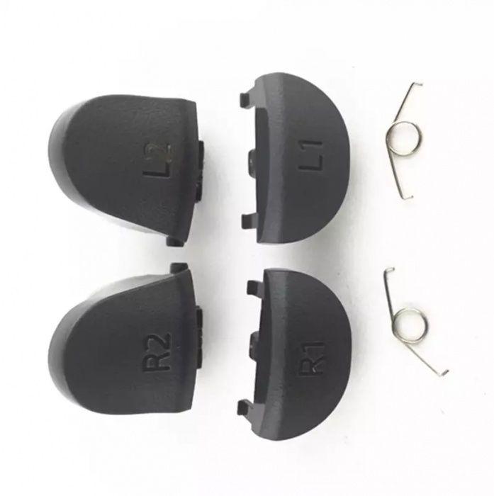 Set butoane L1 R1 L2 R2 controller PS4 DualShock, negre.