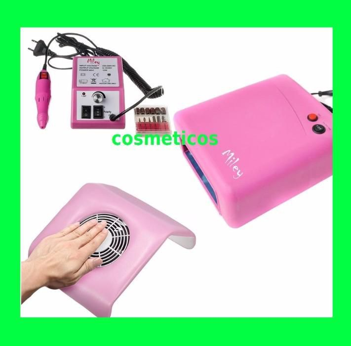 Kit aparate unghii false/gel - lampa UV,aspirator,freza - PROFI