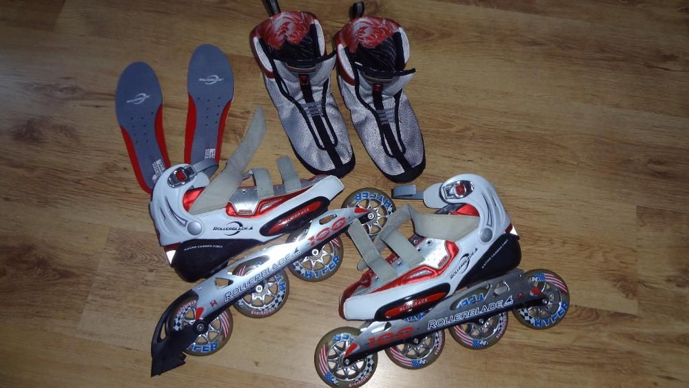 Rolle Profesionale Rollerblade PerformanceRace 100 Rotile Nr 43 Carbon
