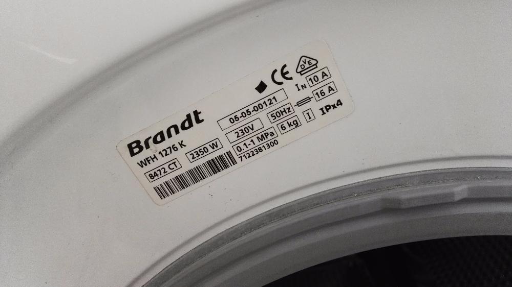 Пералня Brandt Aqualogic WFH1276K