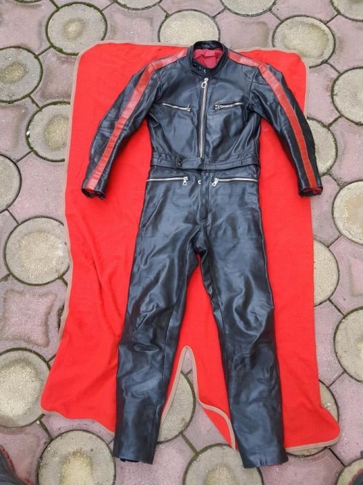 Costum moto piele Haro 48 combinezon conbinezon