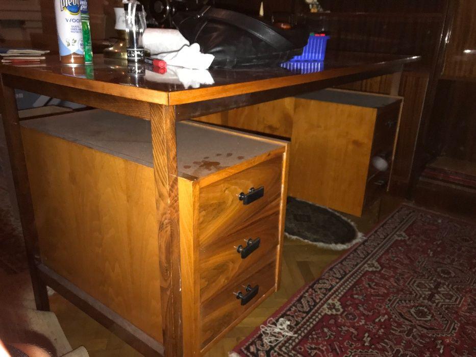 Birou din lemn (furnir) cu 6 sertare