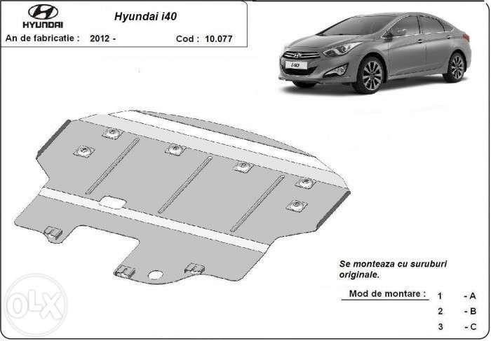Scut metalic pentru motor Hyundai I40 2012-2016 - otel 2mm