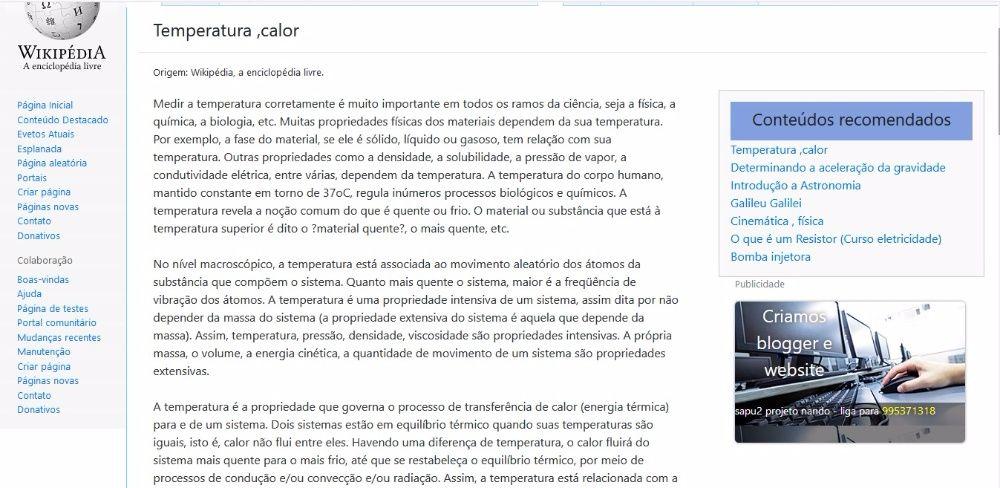 Publicidade em páginas web