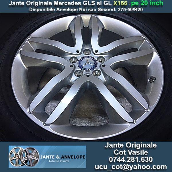 Jante Originale Mercedes GLS si GL X166 pe 20 inch
