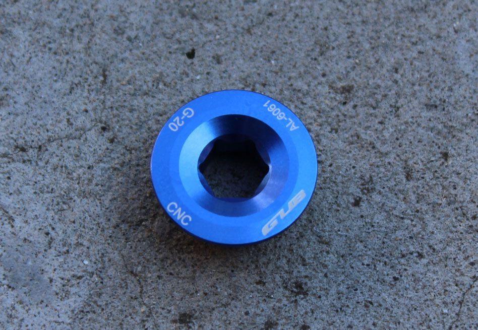 Surub angrenaj Hollowtech ll - alu CNC albastru