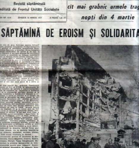 10 ziare din zilele imediat următoare cutremurului din 4 martie 1977