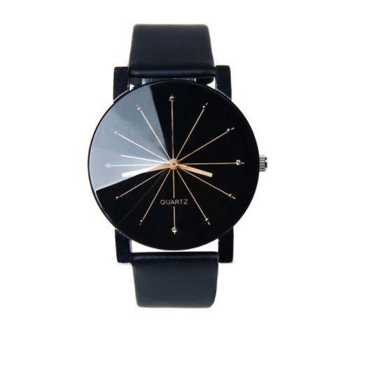 Ceas de damă Geneva negru - cadran diamant