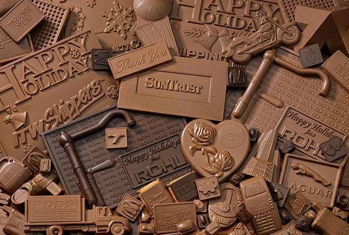 Реклама върху шоколад